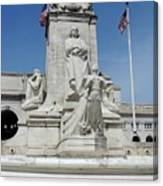 Columbus Statue Canvas Print