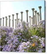 Column Flowers To The Sky Canvas Print