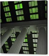 Column Stain Green Canvas Print