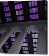 Column Stain Purple Canvas Print