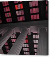 Column Stain Red Canvas Print
