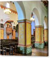 Columns At San Juan Bautista Mission Canvas Print