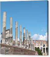 Columns Colosseum And Lamppost Canvas Print