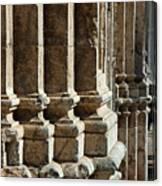 Columns Creating The Facade Of A Gothic-style Church Canvas Print