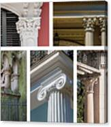 Columns Of New Orleans Collage Canvas Print