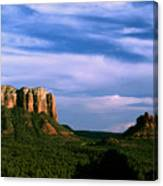 Colurt House Butte And Bell Rock Canvas Print