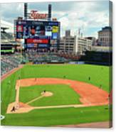 Comerica Park, Home Of The Detroit Tigers Canvas Print