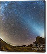 Comet Lovejoy And Zodiacal Light Canvas Print