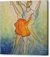 Comic Ballet Canvas Print