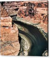Coming Around Horseshoe Bend Page Arizona Colorado River  Canvas Print