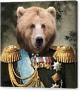Commander Bear Canvas Print