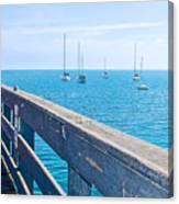 Commercial Pier On Monterey Bay-california  Canvas Print