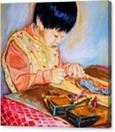 Commission Portraits Your Child Canvas Print