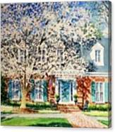 Commissioned House Portrait  Canvas Print