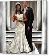 Commissioned Wedding Portrait  Canvas Print
