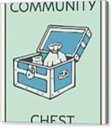 Community Chest Vintage Monopoly Board Game Theme Card Canvas Print
