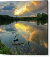 Community Lake #8 Sunset Canvas Print