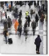 Commuter Art Abstract Canvas Print