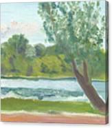 Como Lake By The Pavilion Canvas Print