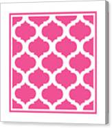 Compact Marrakesh With Border In French Pink Canvas Print