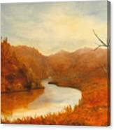 Complementry River Canvas Print
