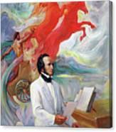 Composer Felix Mendelssohn Canvas Print