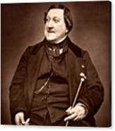 Composer Rossini Canvas Print