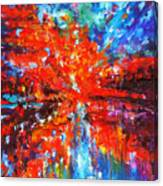 Composition # 2. Series Abstract Sunsets Canvas Print