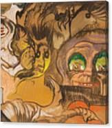 Composition Green Eye Canvas Print