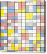 Composition With Grid Ix Canvas Print