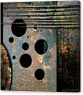 Composition With Holes And Spikes Canvas Print