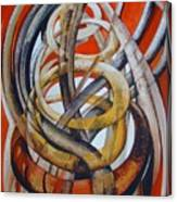 Composition With Red Canvas Print