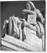 Comtemplation Of Justice 1 Bw Canvas Print