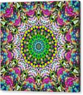 Concentric Colors Abstract Canvas Print