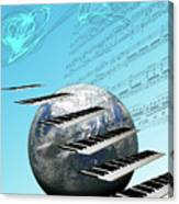 Conceptual Music World  Canvas Print