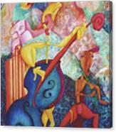 Concerto For Dingo And Tiki God Canvas Print