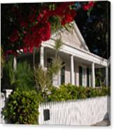 Conch House In Key West Canvas Print