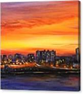 Concrete Sunset Canvas Print