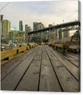 Condominium Buildings Along Granville Island Vancouver Bc Canvas Print