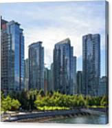Condominium Waterfront Living In Vancouver Bc Canvas Print