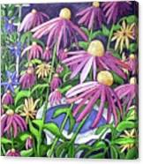 Coneflowers In Gentle Wind Canvas Print