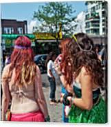Coney Island Girls Canvas Print