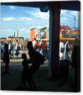 Coney Island Stroll Canvas Print