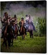 Confederate Cavalry Charge Canvas Print