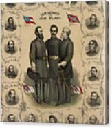 Confederate Generals Of The Civil War Canvas Print