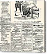 Confederate Newspaper Canvas Print