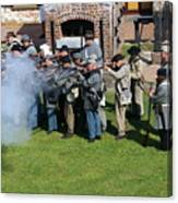 Confederate Soldiers Fire Canvas Print