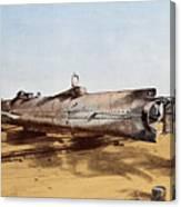 Confederate Submarine, Hunley Canvas Print