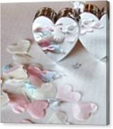 Confetti Hearts Canvas Print