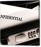 Confidential Documents Canvas Print